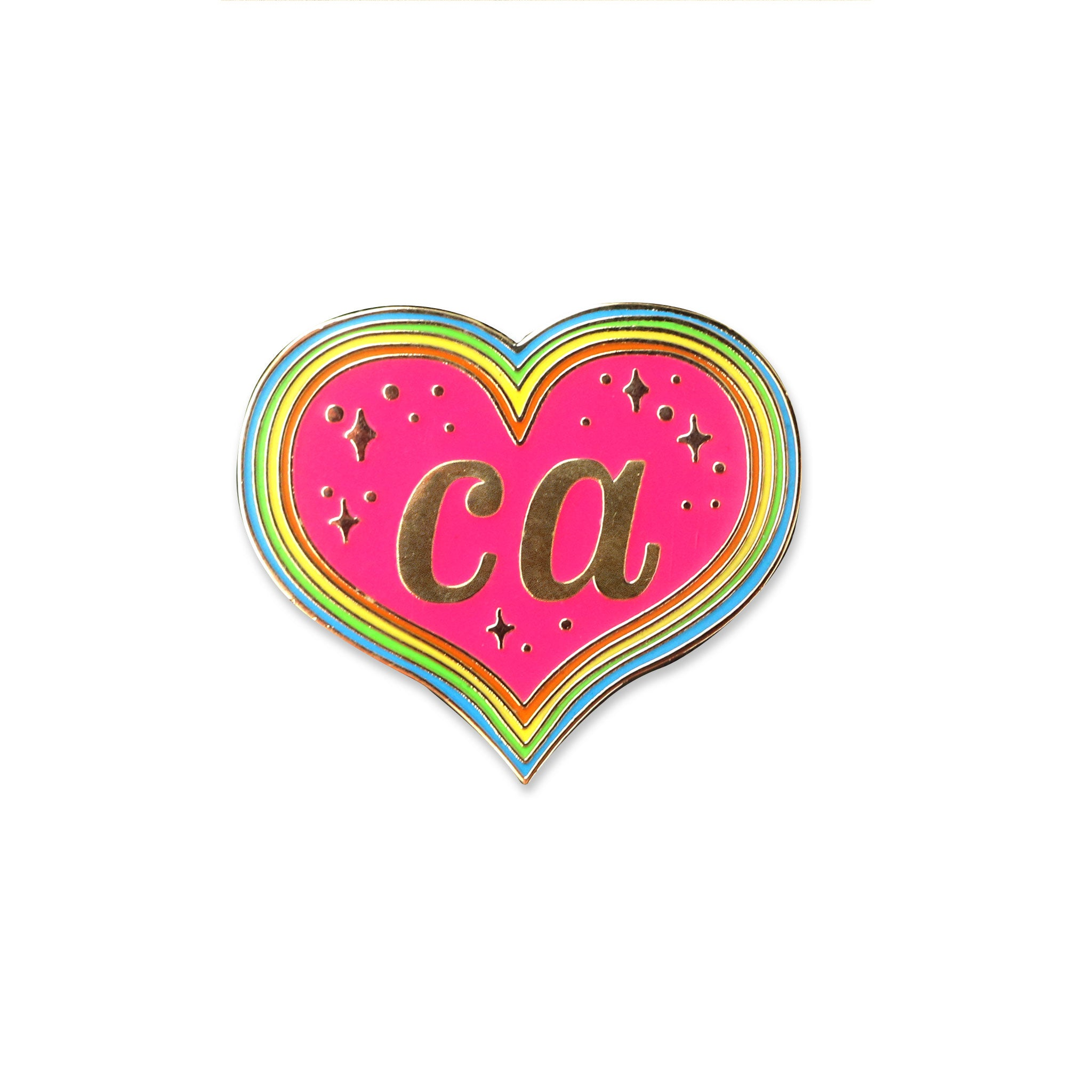 California Heart Pin