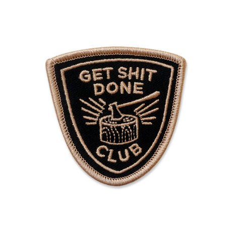 Get Shit Done Iron-on Patch