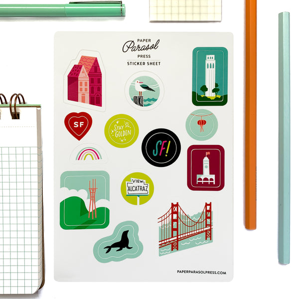 San Francisco Sticker Sheet