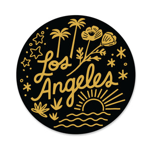 Los Angeles in Black Sticker