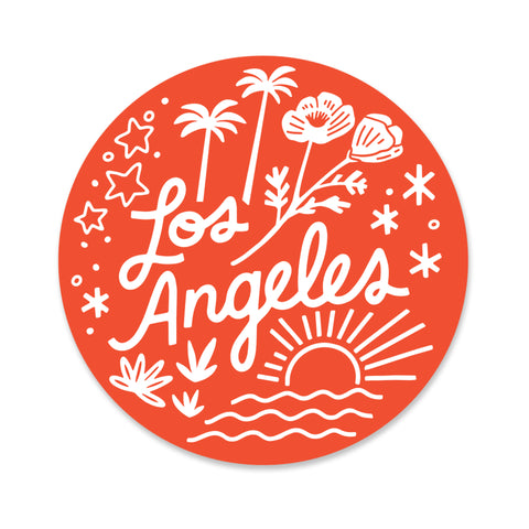 Los Angeles in Orange Sticker