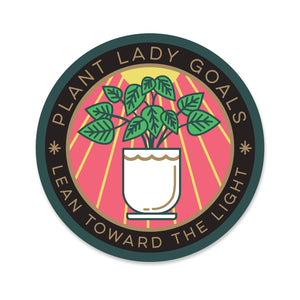 Plant Lady Goals Sticker