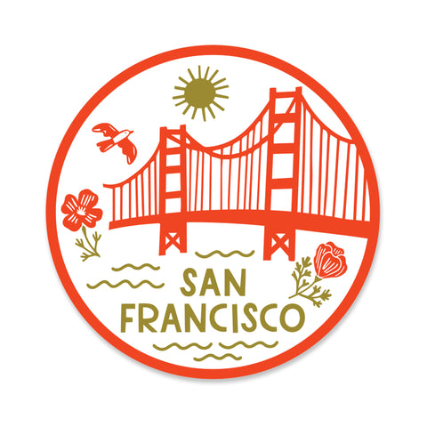 San Francisco Icons Sticker
