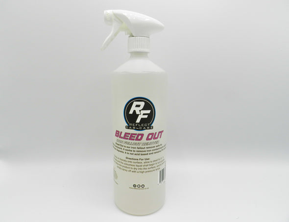 bleed out iron fallout remover 1Litre on white background