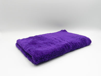 60cm x 40cm Purple Buffing Cloth 675GSM on a white background