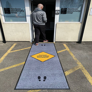Covid Safety Message Floor Mats