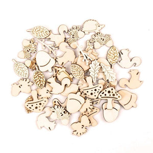20PCS Animal Shaped Wooden Ornaments - Shop to Stop Plastic