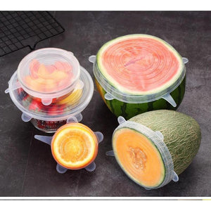 6PCS Set Universal Stretch Silicone Covers for Fresh Food - Shop to Stop Plastic