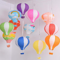Colorful Paper Hot Air Balloon Decorations - Shop to Stop Plastic