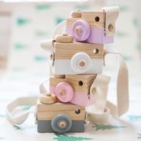Colorful Wooden Kid's Toy Camera - Shop to Stop Plastic