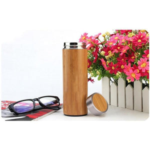 Creative Bamboo Thermos Water Bottle - Shop to Stop Plastic