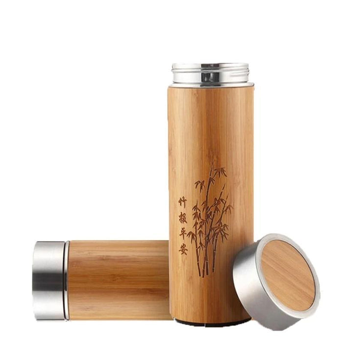 Creative Bamboo Thermos Water Bottle