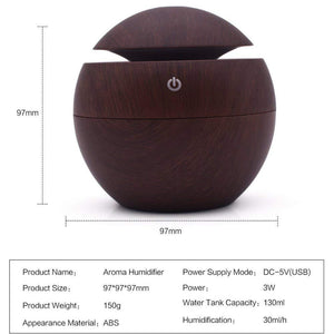 Essential Oil Aroma Diffuser with 7 Color LED - Shop to Stop Plastic