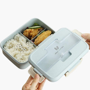High-Quality Lunch Box Wheat Straw with Cutlery - Shop to Stop Plastic