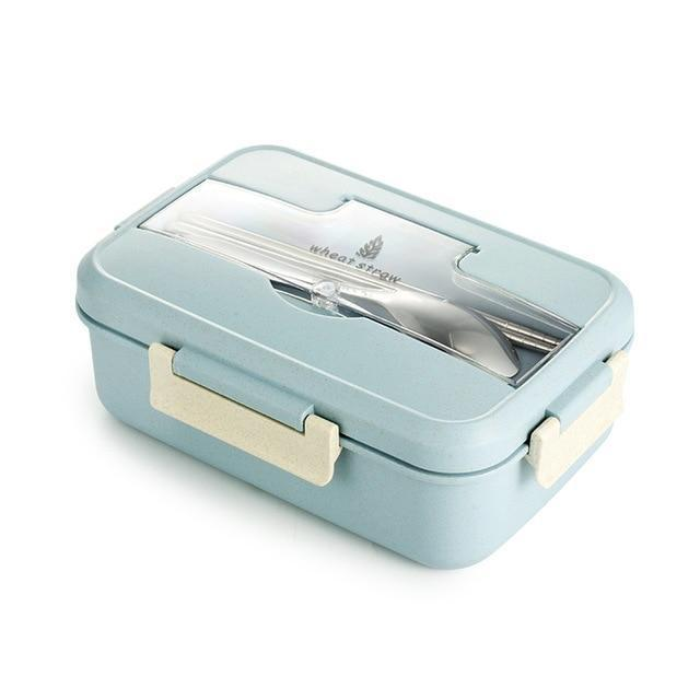 High-Quality Lunch Box Wheat Straw with Cutlery