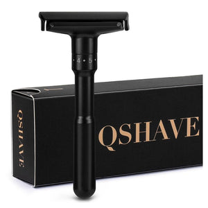 Personalised Adjustable Black Safety Razor with 5 Blades - Shop to Stop Plastic