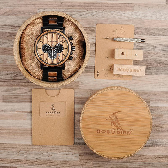 Quartz Dial Bamboo Wooden Watch