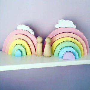 Rainbow Kids Room Wooden Wall Art - Shop to Stop Plastic