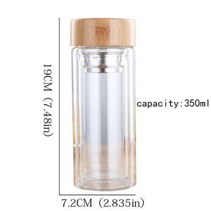 Tea Glass Bottle with Infuser Filter - Shop to Stop Plastic