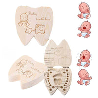 Wooden Baby Tooth Box in Multiple Languages - Shop to Stop Plastic