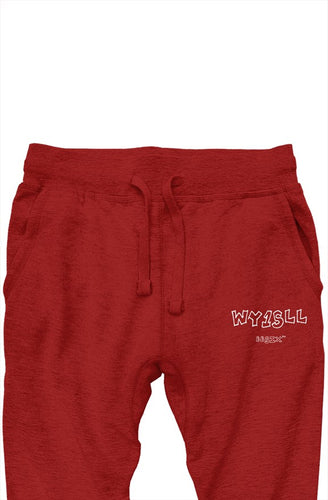 WY1SLL Red Joggers (White Lettering)
