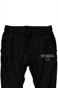 WY1SLL Black Joggers (White Lettering)