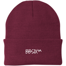 Load image into Gallery viewer, BBSix Knit Cap (White Lettering)