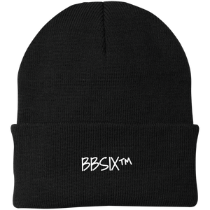 BBSix Knit Cap (White Lettering)