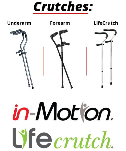 Millennial Medical in-Motion crutches. The Life Crutch by Millennial Medical. Crutches, Canes, and Mobility Devices