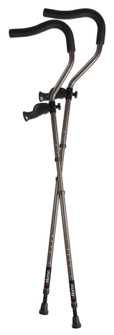 Millennial Medical. In-Motion Pro Forearm crutch. Crutch. Forearm Crutch. Spring-assist.