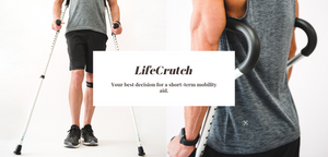 Life Crutch. Millennial Medical. Short-term crutch. Affordable crutch
