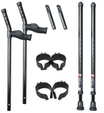 in-Motion Pro Forearm Crutch Set - Forearm Crutch Set with Spring Assist feature. Strong construction with durable materials.
