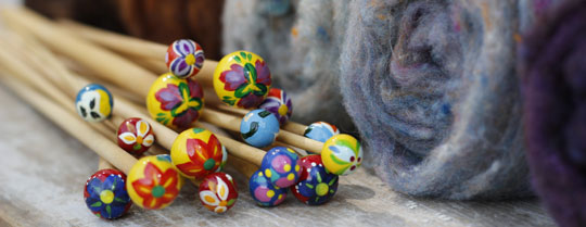 Hand Painted Knitting Needles