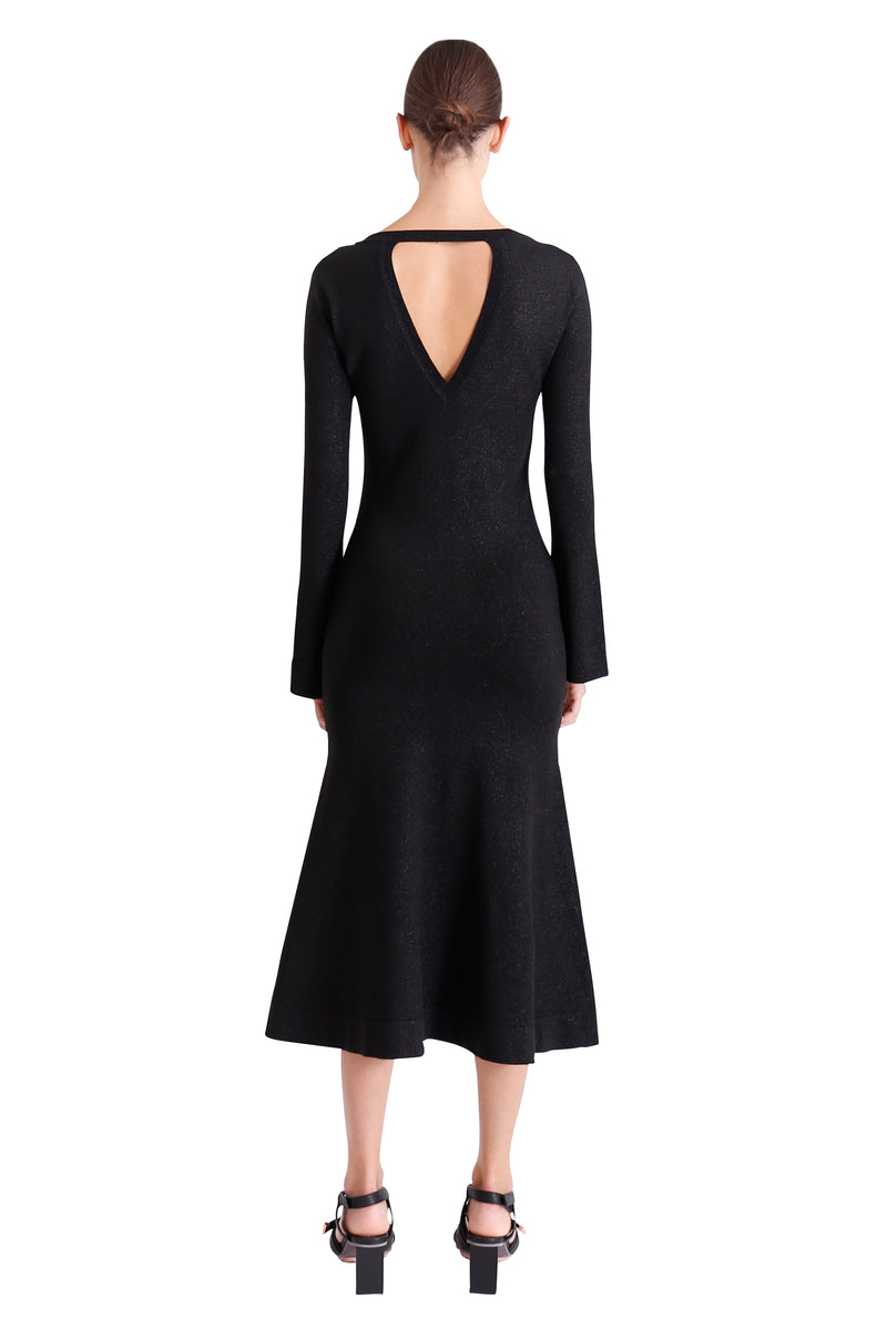 Allude Metallic Knit Dress