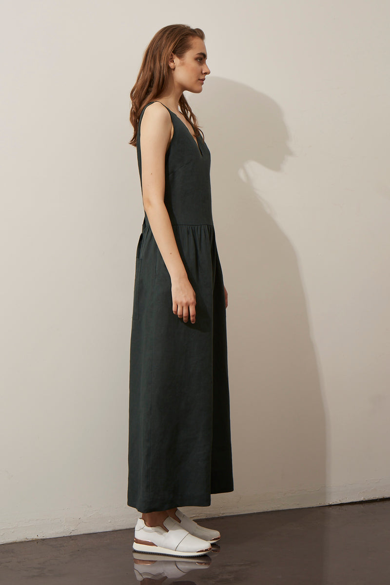 GINGER AND SMART AMOUR LINEN SUMMER JUMPSUIT