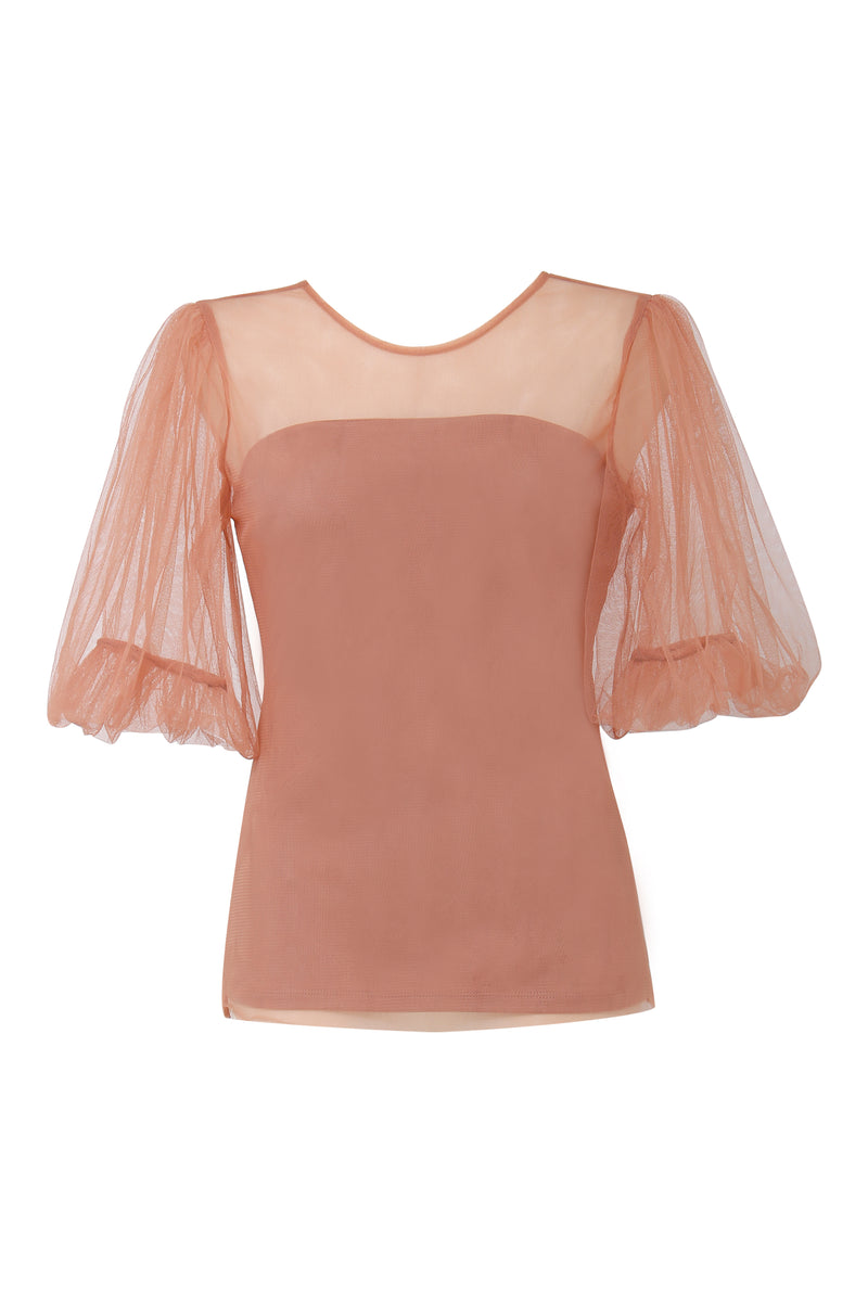 Ginger and Smart bubble sleeve tulle top