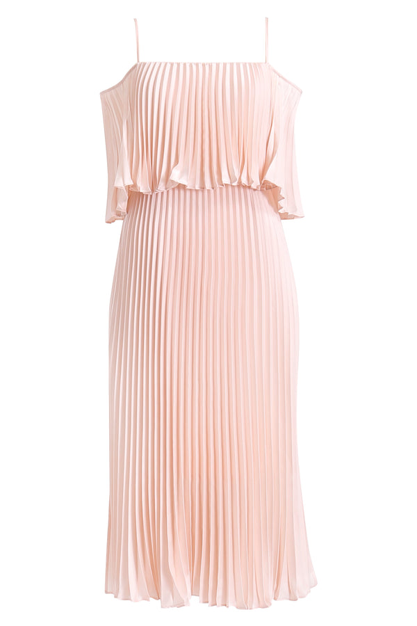 Depth Pleat Off-shoulder Dress