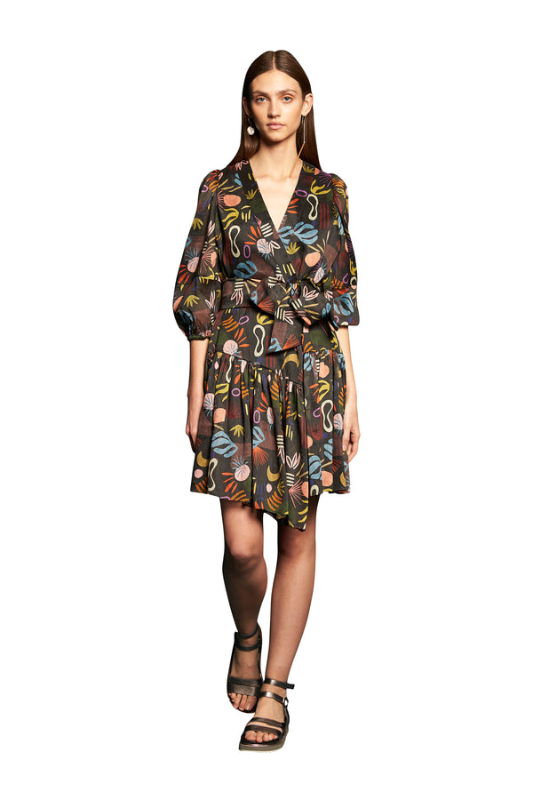 Synchronize Wrap Dress