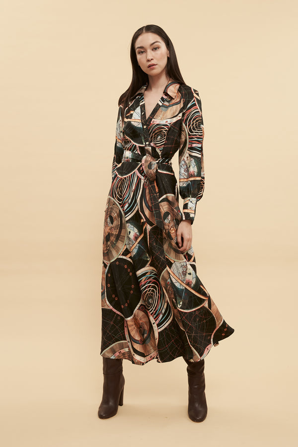 Astrology Wrap Dress