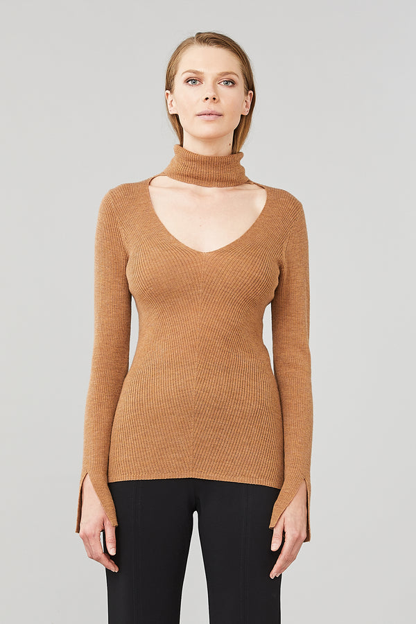 Dimension Turtleneck Top