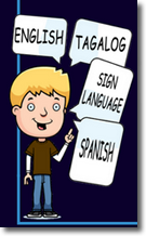 guy talking in English, Tagalog, sign language and Spanish