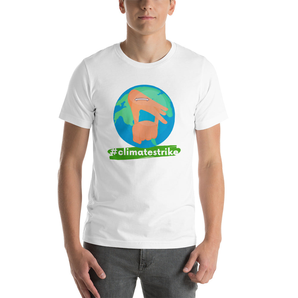 #ClimateStrike Earth Eco-friendly Shirt in Sign Language