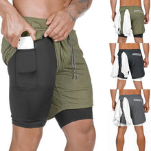 Load image into Gallery viewer, 2 In 1 Hidden Secure Pocket Fitness Shorts - puncer