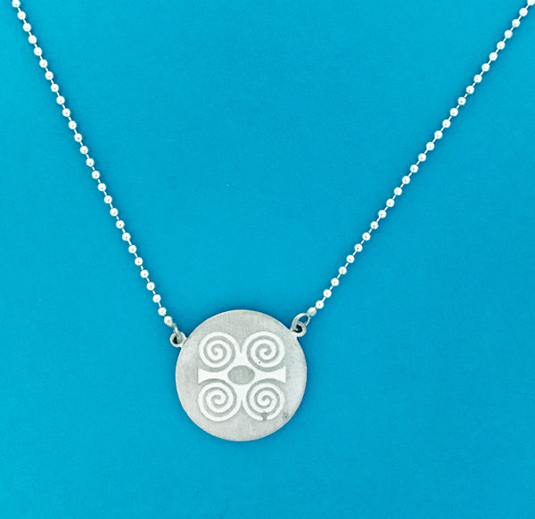 Strength and Humility Medallion Necklace/Adinkra Collection