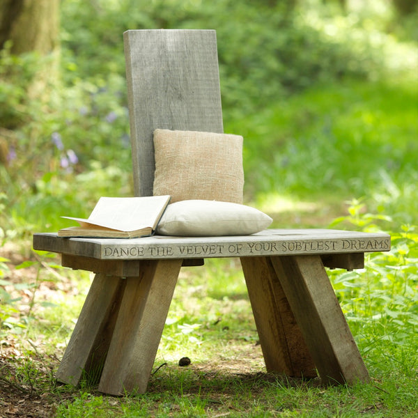 Single Backed Oak Seat