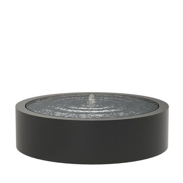 Round Water Table - Black-Grey Aluminium