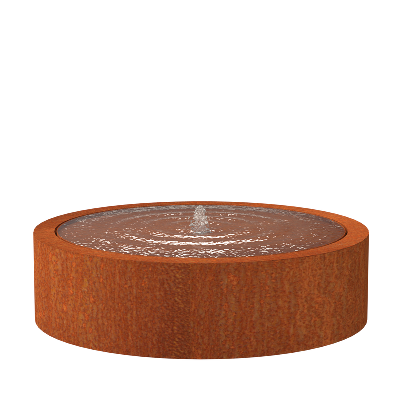 Round Water Table - Corten Steel