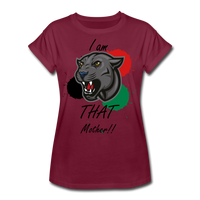 I am THAT Mother (Women's Relaxed Fit T-Shirt) - burgundy