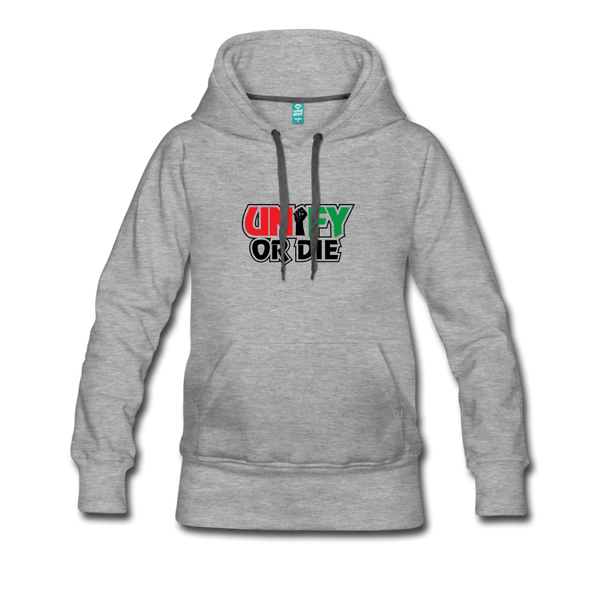 Unify or Die (Women's Hoodie) - heather gray