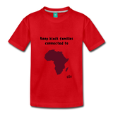 Keep Black Families Connected (Toddler T-Shirt) - red